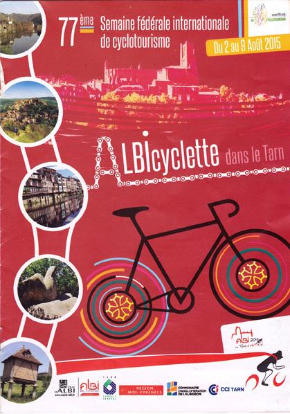 Affiche de la 77ème semaine fédérale du cyclotourisme à Albi